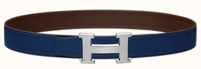 Etrier belt buckle & Reversible leather strap 32 mm