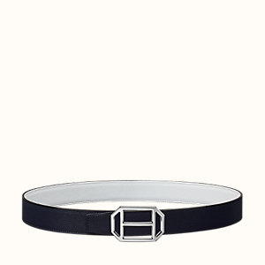 Pad belt buckle & Reversible leather strap 32 mm