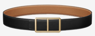Royal belt buckle & Reversible leather strap 38 mm -