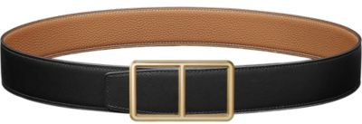 H d'Ancre belt buckle & Reversible leather strap 38 mm