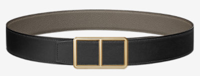 Officier belt buckle & Reversible leather strap 38 mm -