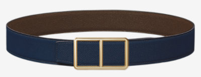 Constance belt buckle & Reversible leather strap 38 mm -