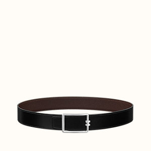 Tube H belt buckle & Reversible leather strap 38 mm