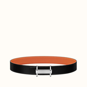 H Stretch belt buckle & Reversible leather strap 38 mm
