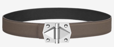 Mors belt buckle & Reversible leather strap 42 mm -