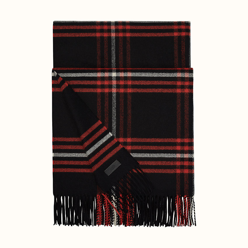 zoom image, Blanket Check stole