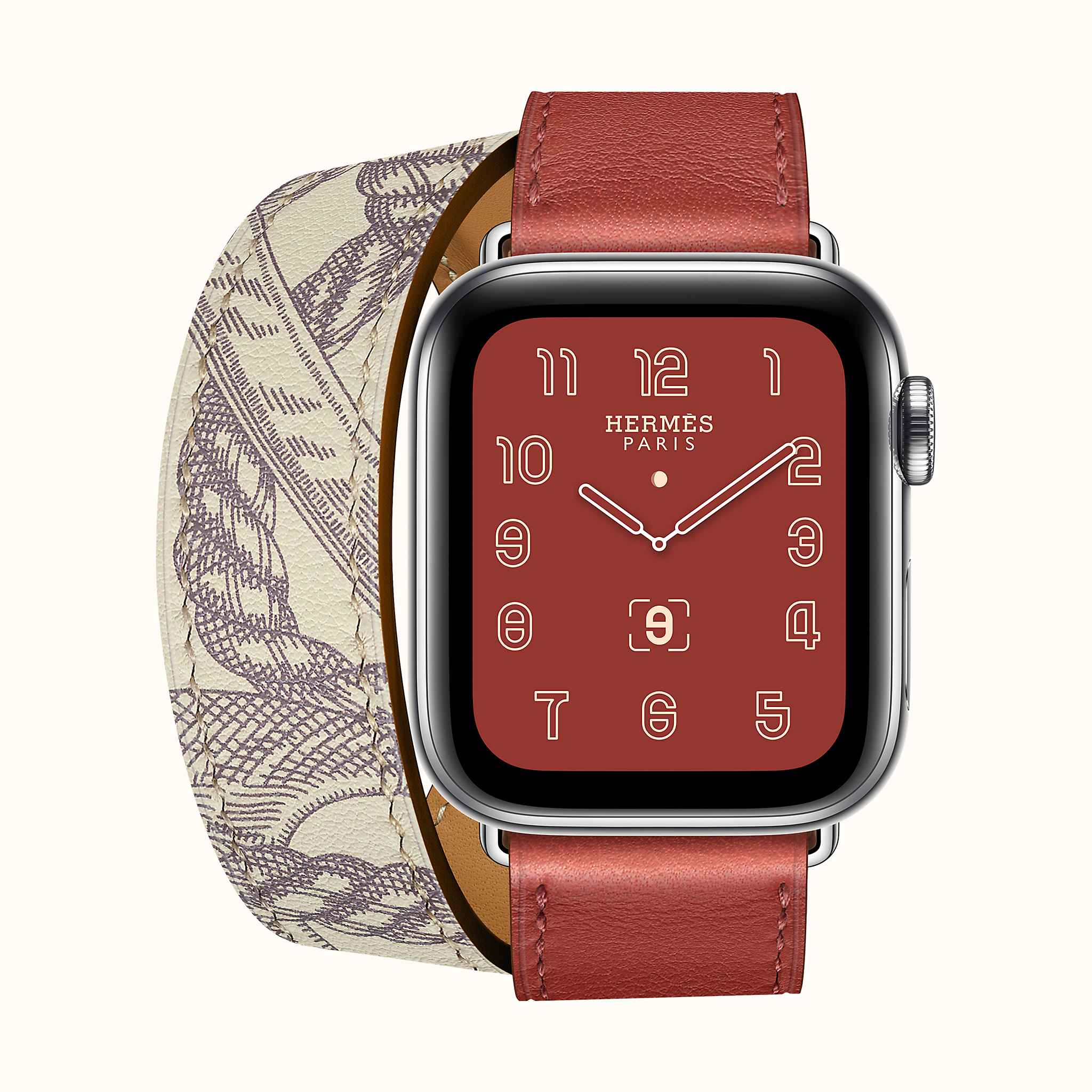BOITIER AWH S5 INOX 40MM WORLD WIDE \u0026 Bracelet Apple Watch Hermès Double  Tour 40 mm
