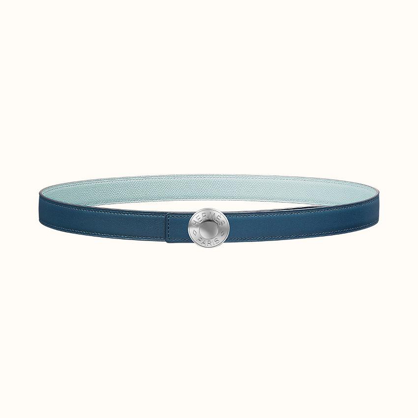 zoom image, Boucle de ceinture Bouton Bombé & Cuir de ceinture réversible 24mm