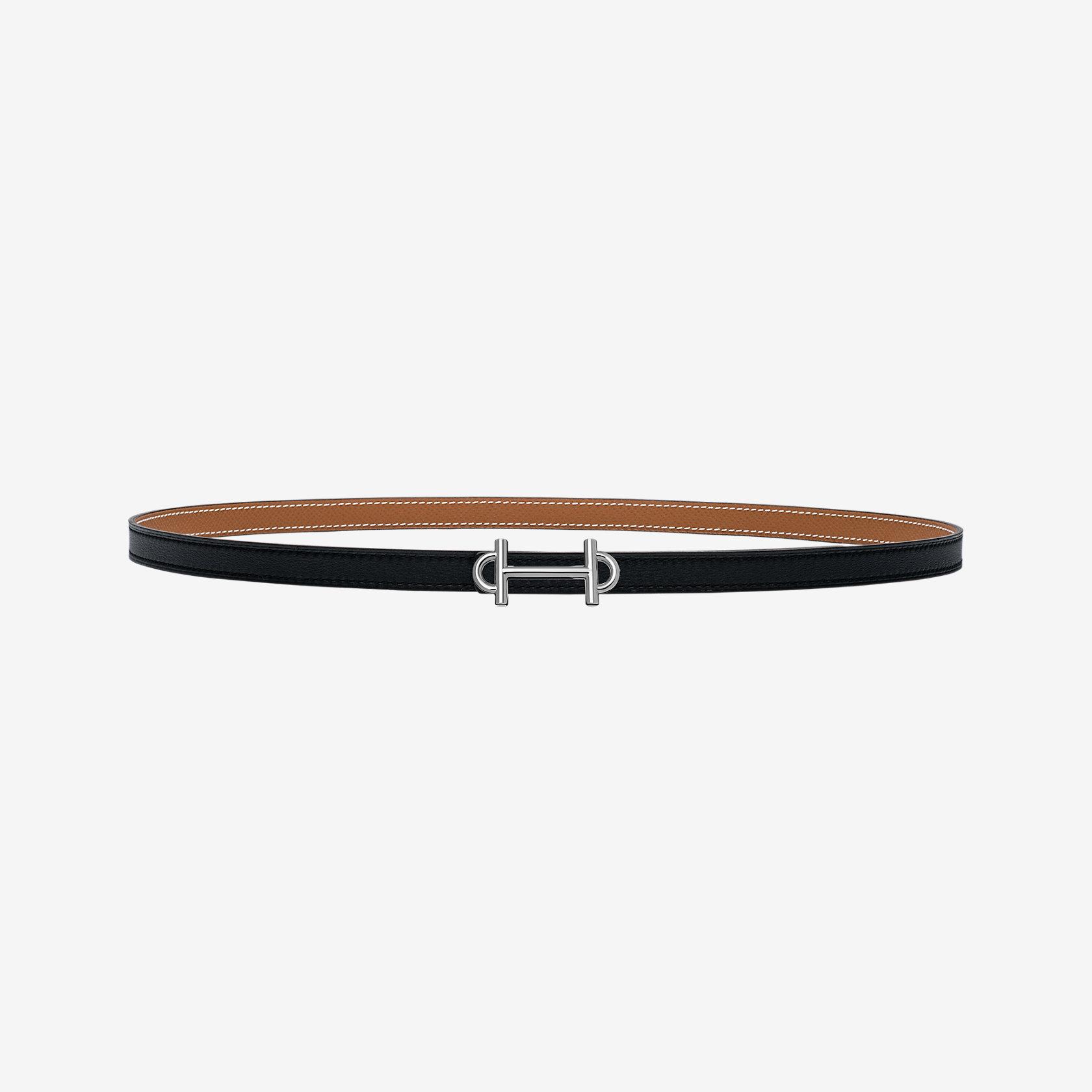 eb9bd6561ddc Boucle de ceinture Gamma   Cuir de ceinture réversible 13 mm   Hermès