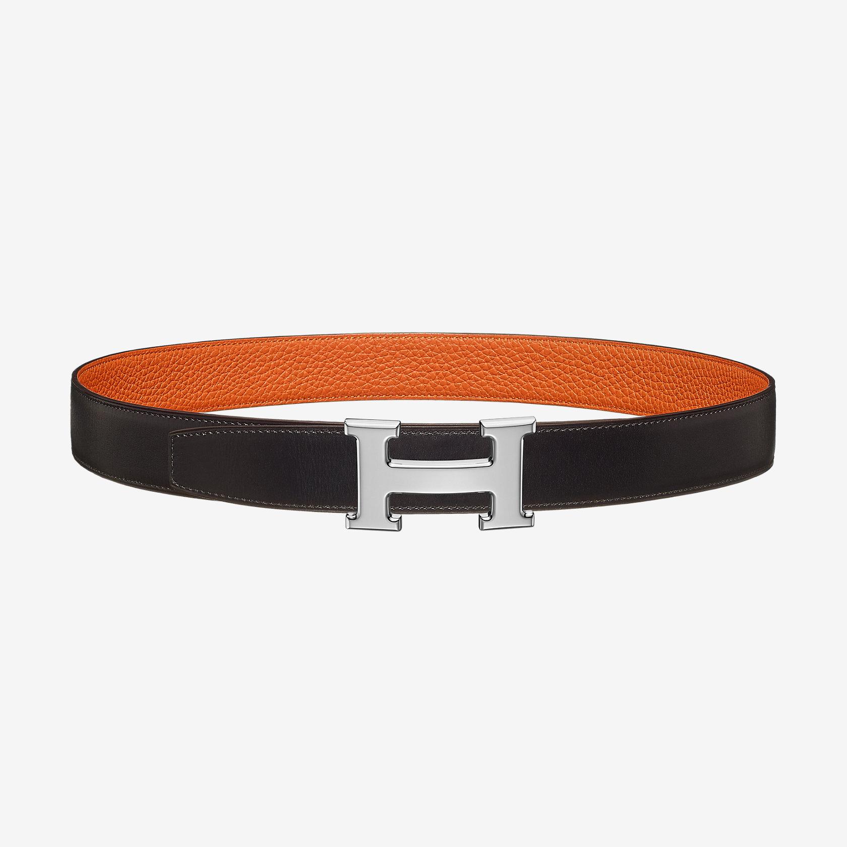 87497477e4ee Boucle de ceinture H   Cuir de ceinture réversible 32 mm   Hermès