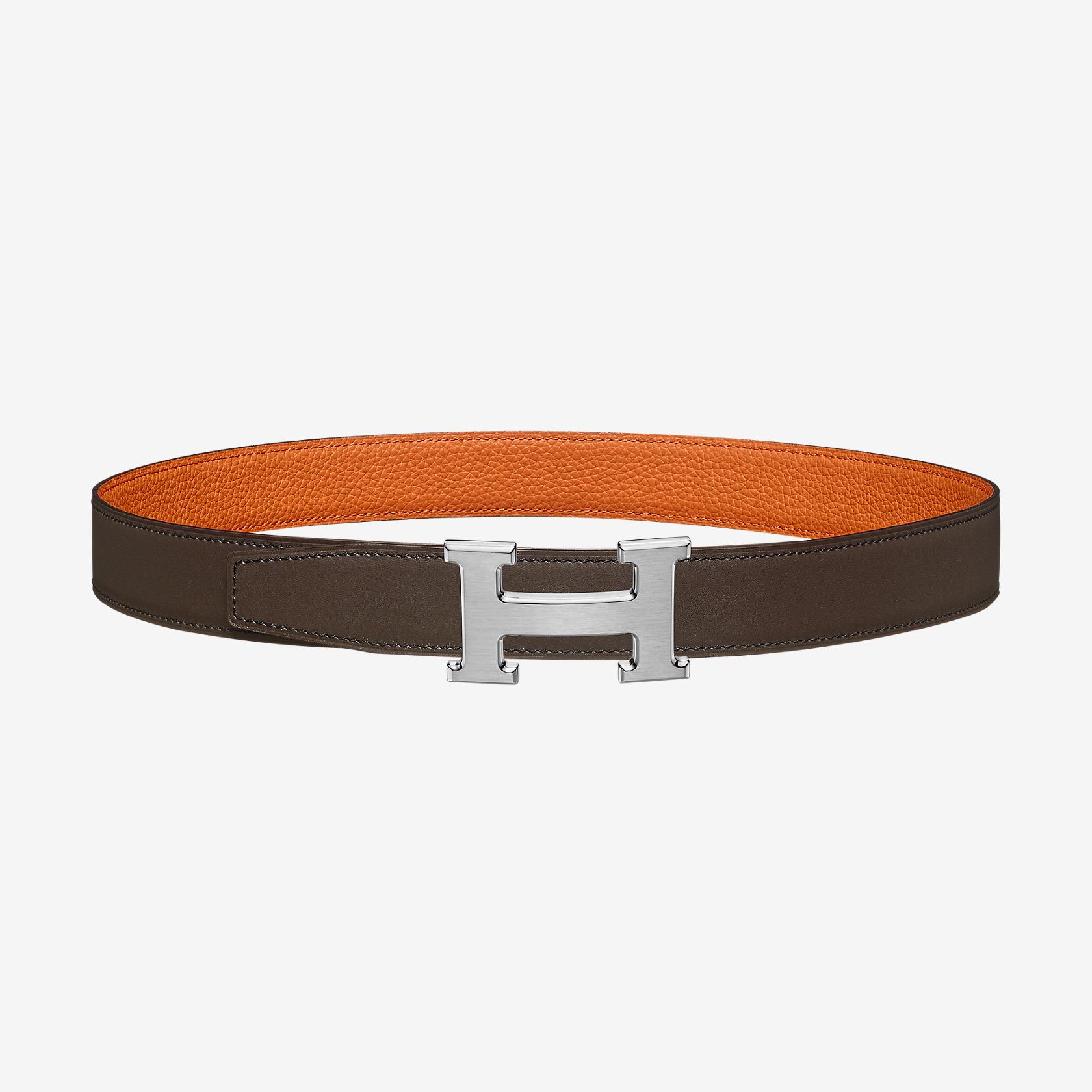 84a685bbbe47 Boucle de ceinture H   Cuir de ceinture réversible 32 mm   Hermès