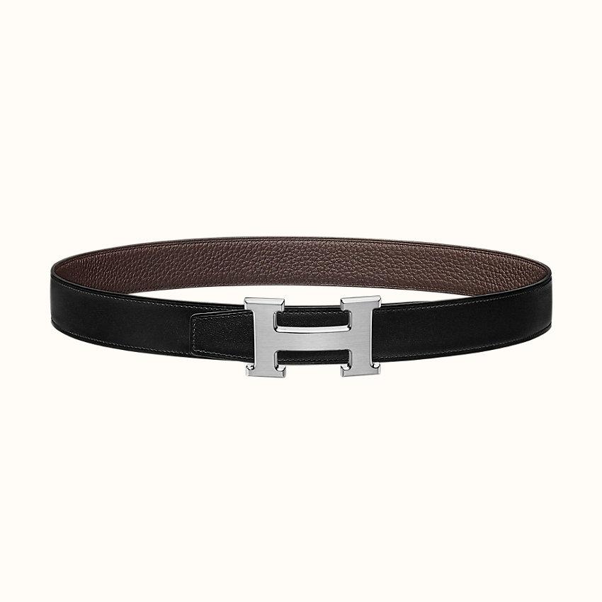 zoom image, Boucle de ceinture H & Cuir de ceinture réversible 32mm