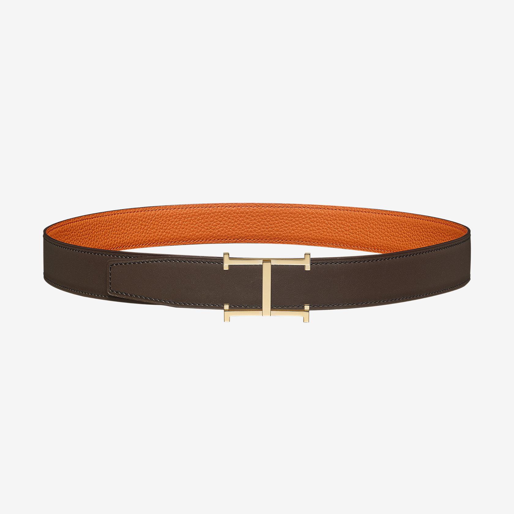 fc5a4e590aa9 Boucle de ceinture H Obstacle   Cuir de ceinture réversible 32 mm   Hermès