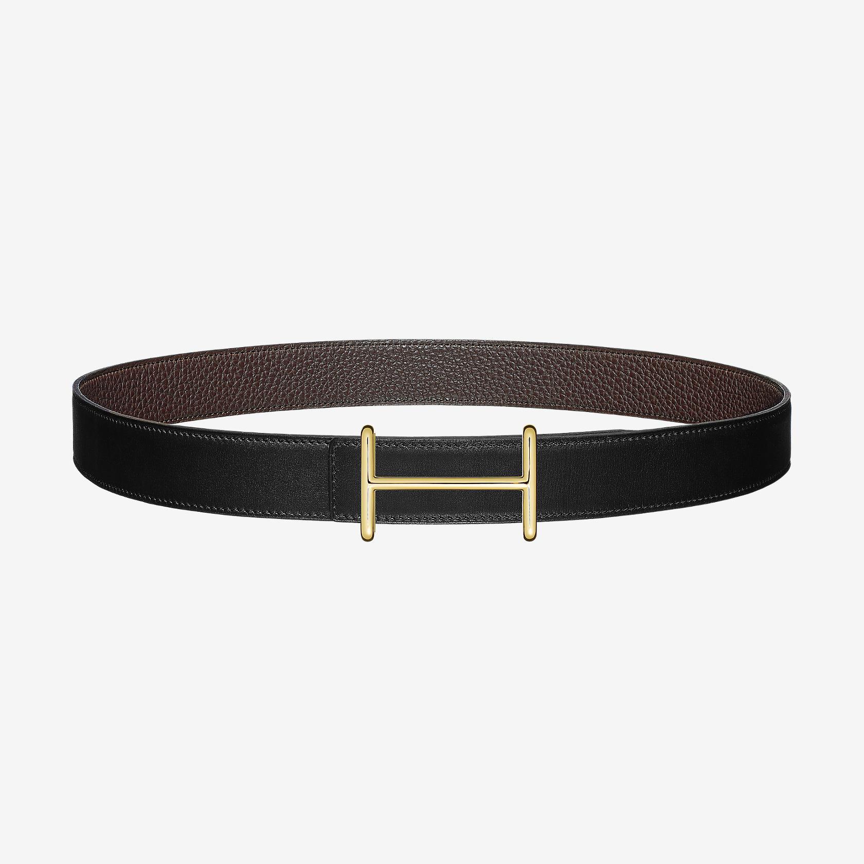 Boucle de ceinture Idem   Cuir de ceinture réversible 32 mm   Hermès 3aacd60e49a