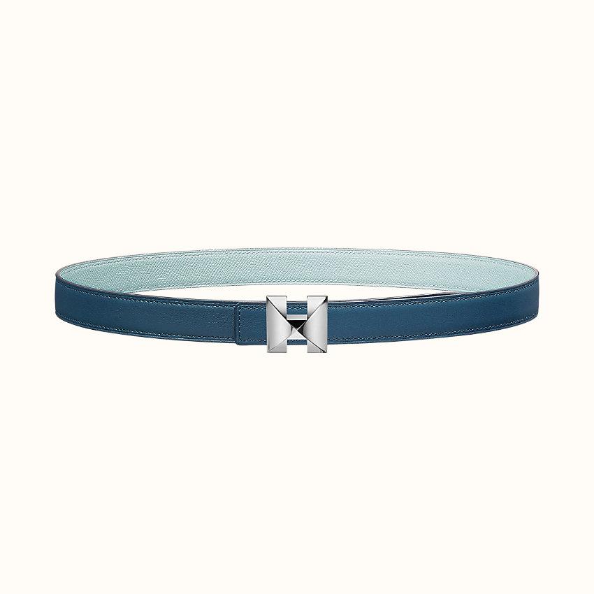 zoom image, Boucle de ceinture Médor H  & Cuir de ceinture réversible 24mm