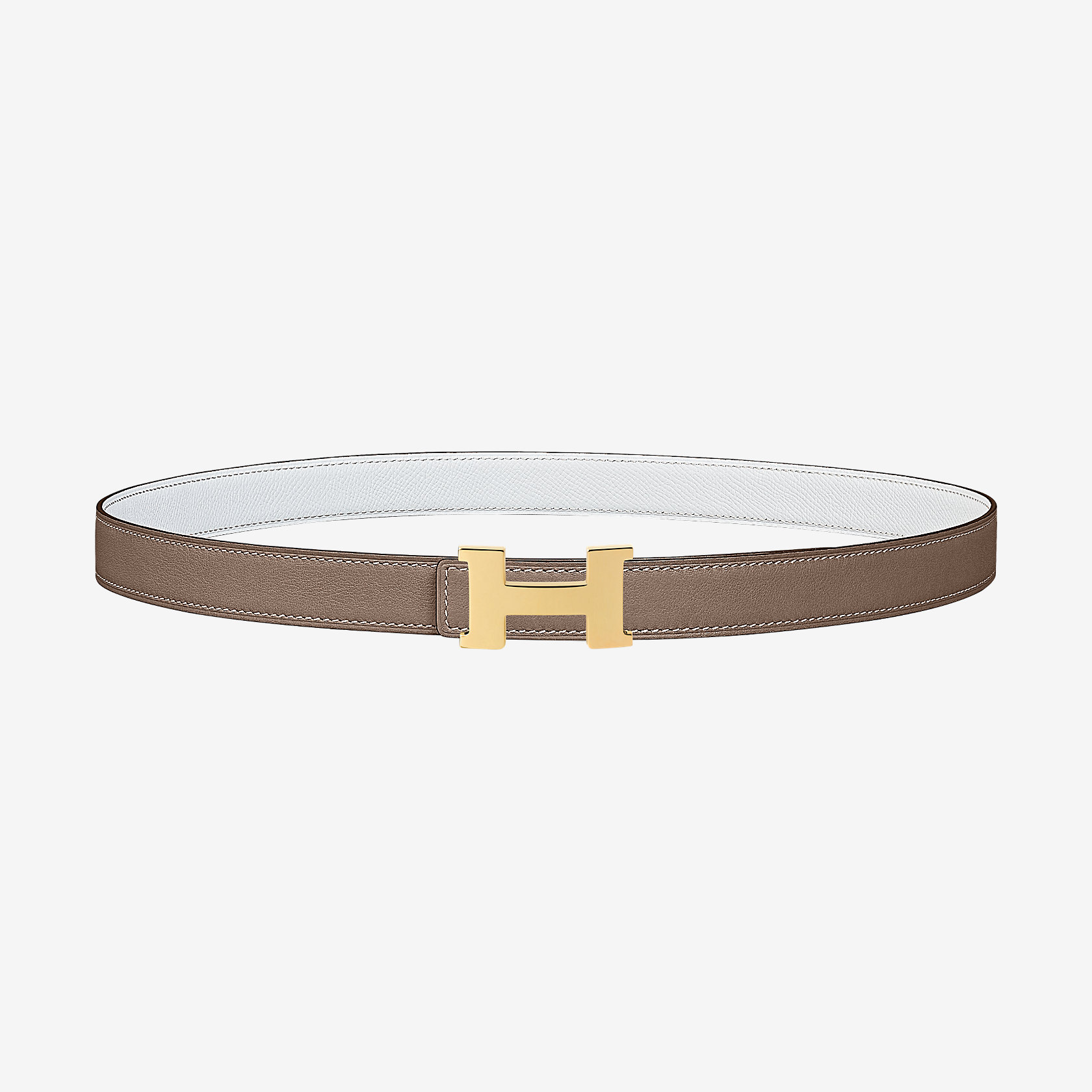 Boucle de ceinture Mini Constance   Cuir de ceinture réversible 24 mm    Hermès cc834eb9a5f