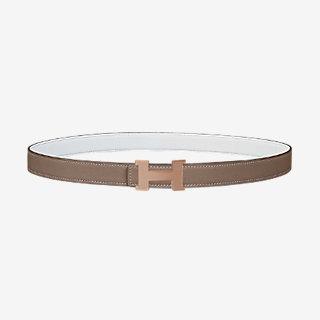 boucle-de-ceinture-mini-constance-guillochée-&-cuir-de-ceinture-réversible-24mm by hermès