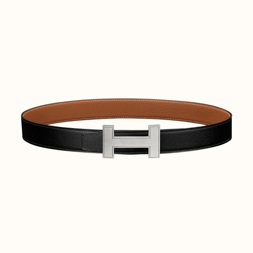 zoom image, Boucle de ceinture Quizz & Cuir de ceinture réversible 32mm