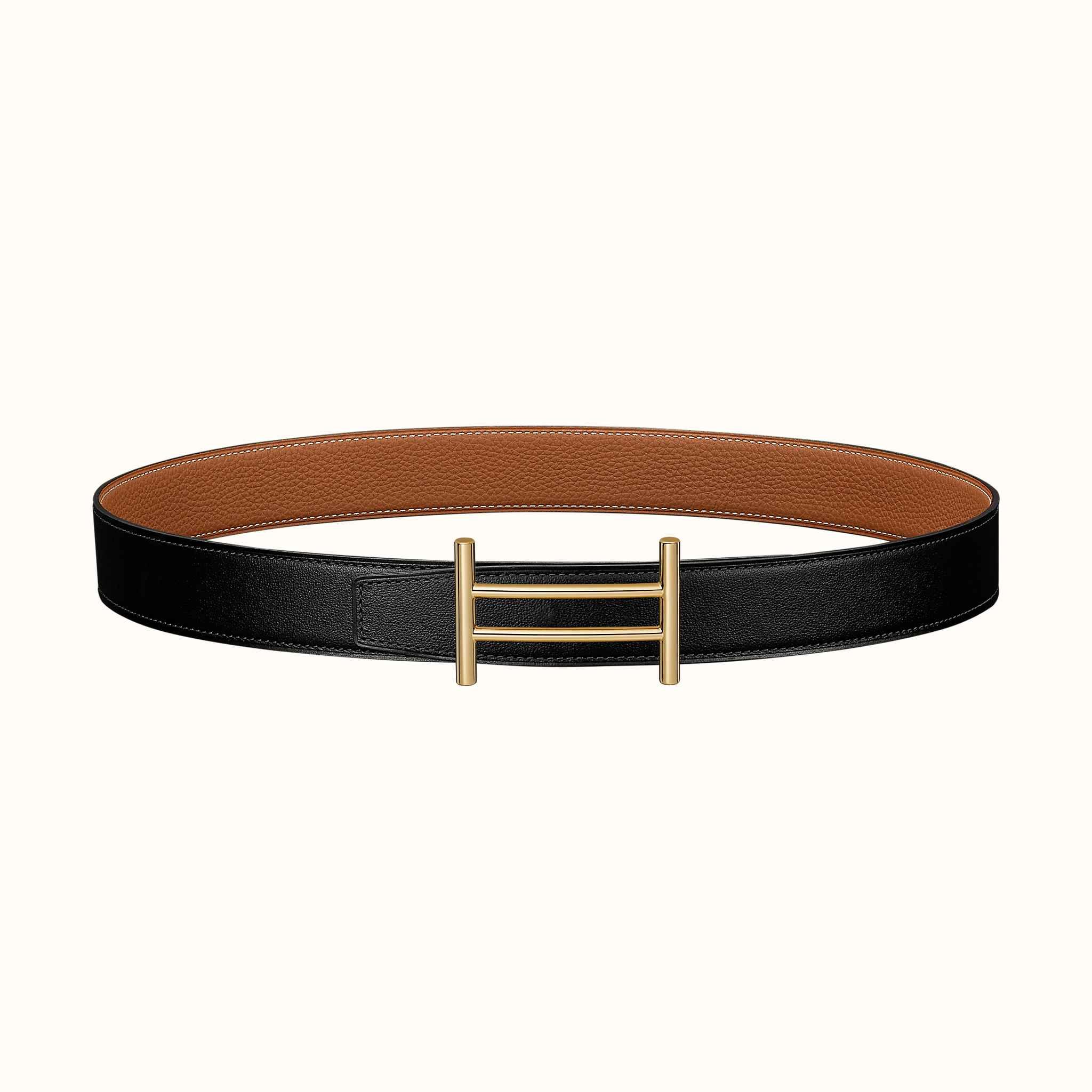 23d7ad8971 Boucle de ceinture Rider & Cuir de ceinture réversible 32 mm | Hermès