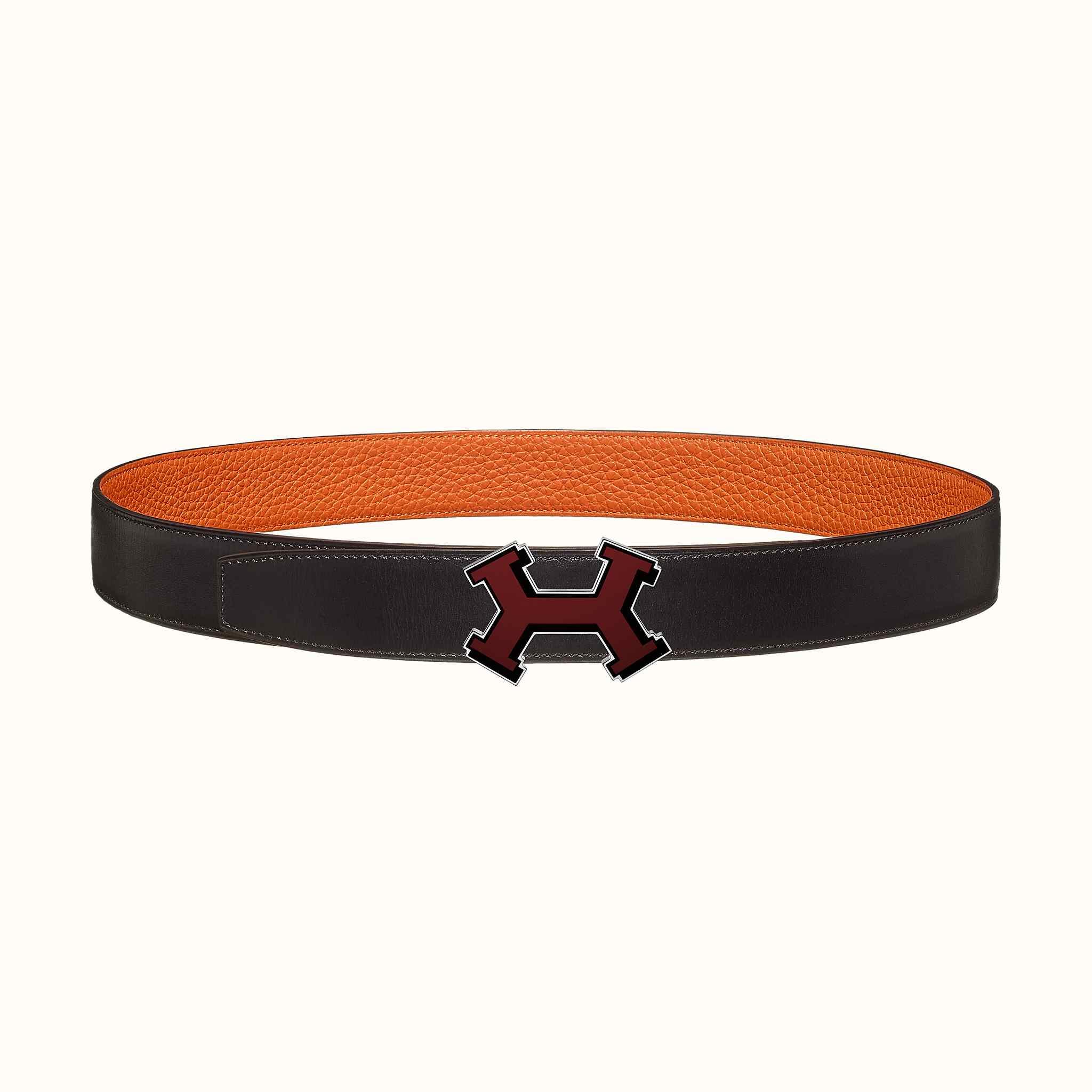 7e725e6a1697 Boucle de ceinture Street H   Cuir de ceinture réversible 32 mm   Hermès