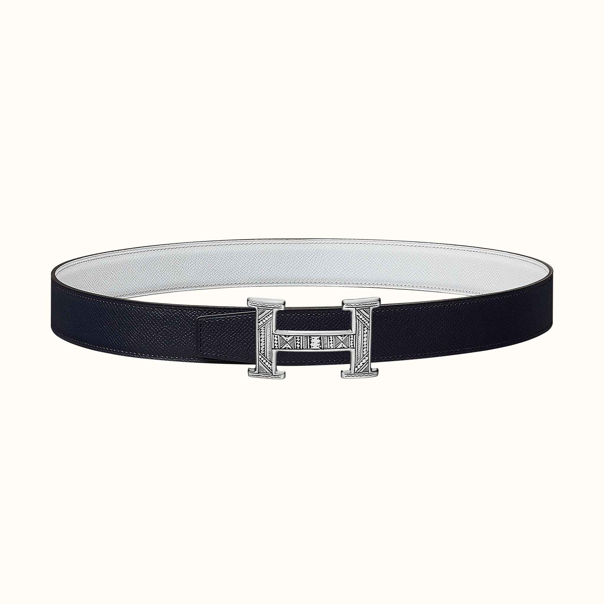 68454ccb7d Boucle de ceinture Touareg & Cuir de ceinture réversible 32 mm | Hermès