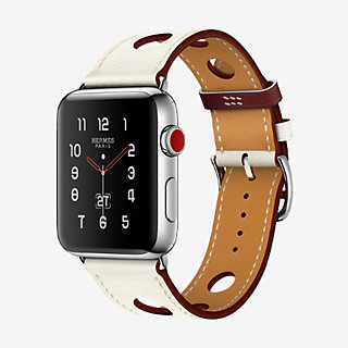 Bracelet Apple Watch Hermès Simple Tour 42 mm Rallye , front