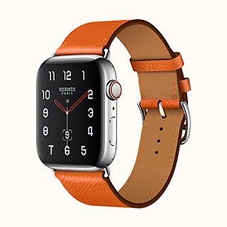 Agrandissement de l\u0027image Bracelet Apple Watch Hermès Simple Tour 44 mm ,  front