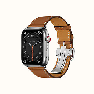 Agrandissement de l\u0027image Bracelet Apple Watch Hermès Simple Tour 44 mm  Boucle Déployante , front