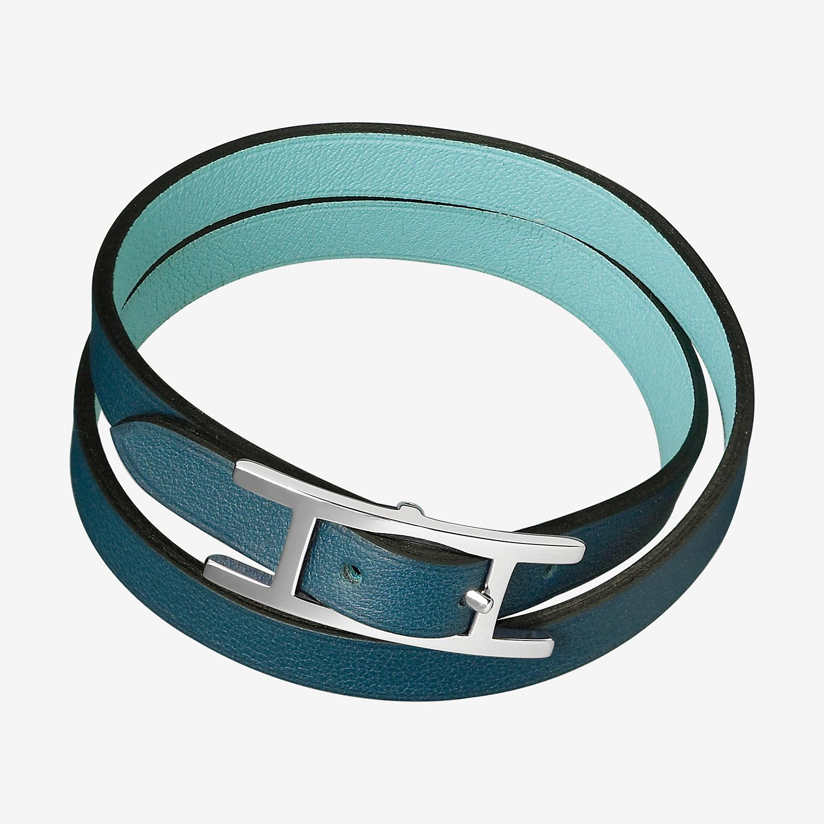 bracelet behapi double tour herm s. Black Bedroom Furniture Sets. Home Design Ideas
