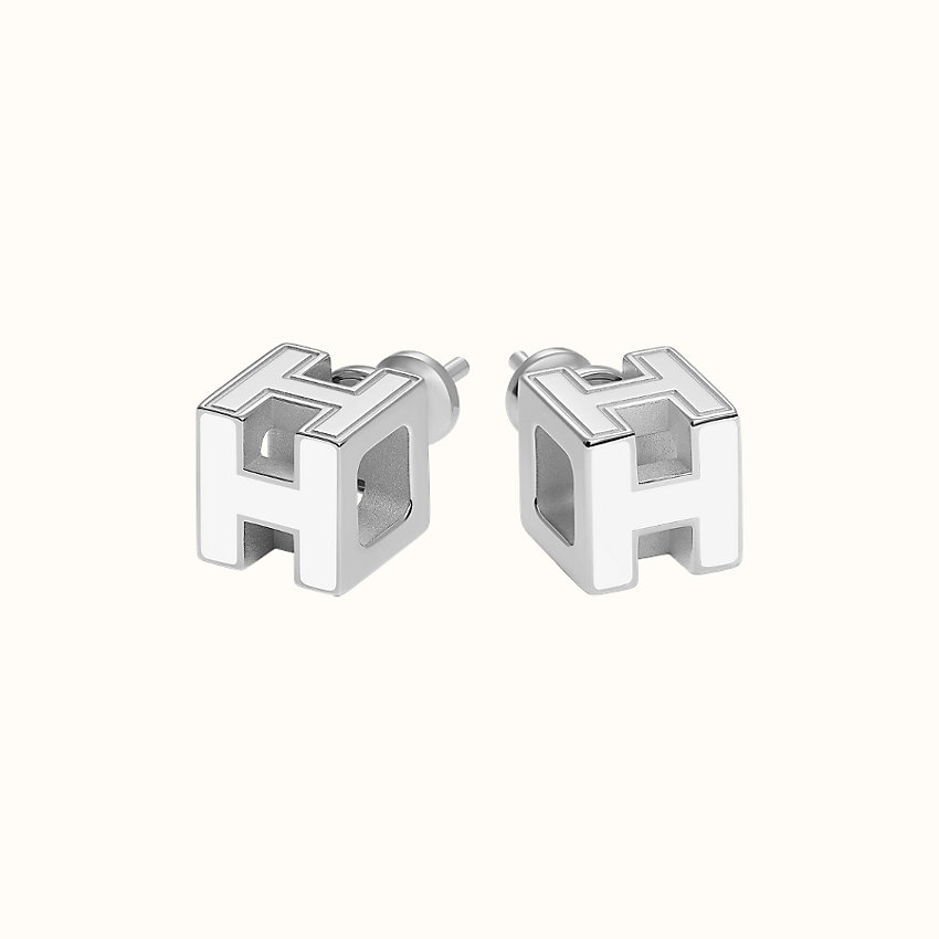 zoom image, Cage d'H earrings