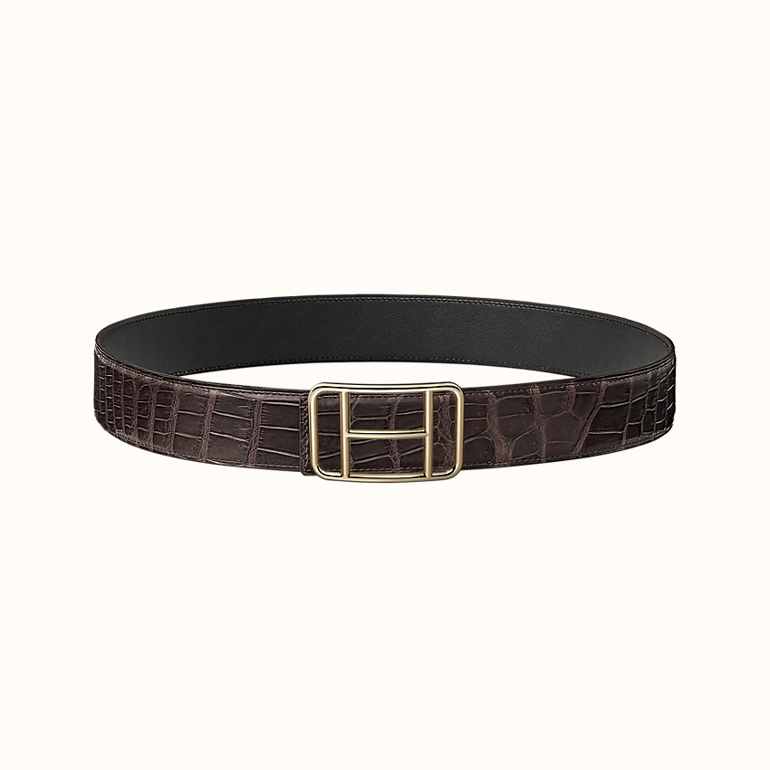 zoom image, Cape Town belt buckle & Leather strap 38 mm