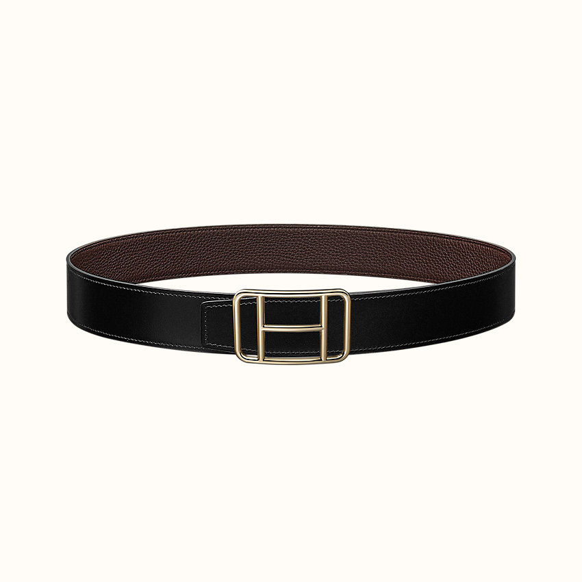zoom image, Cape Town belt buckle & Reversible leather strap 38 mm