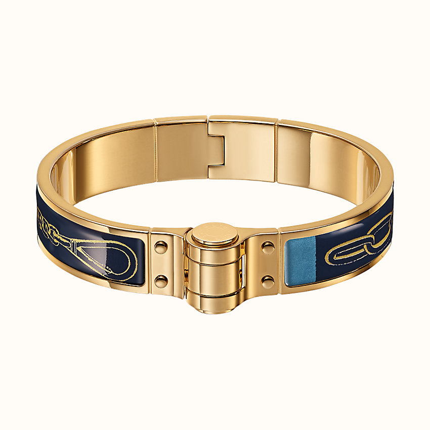 zoom image, Carre Taquin hinged bracelet
