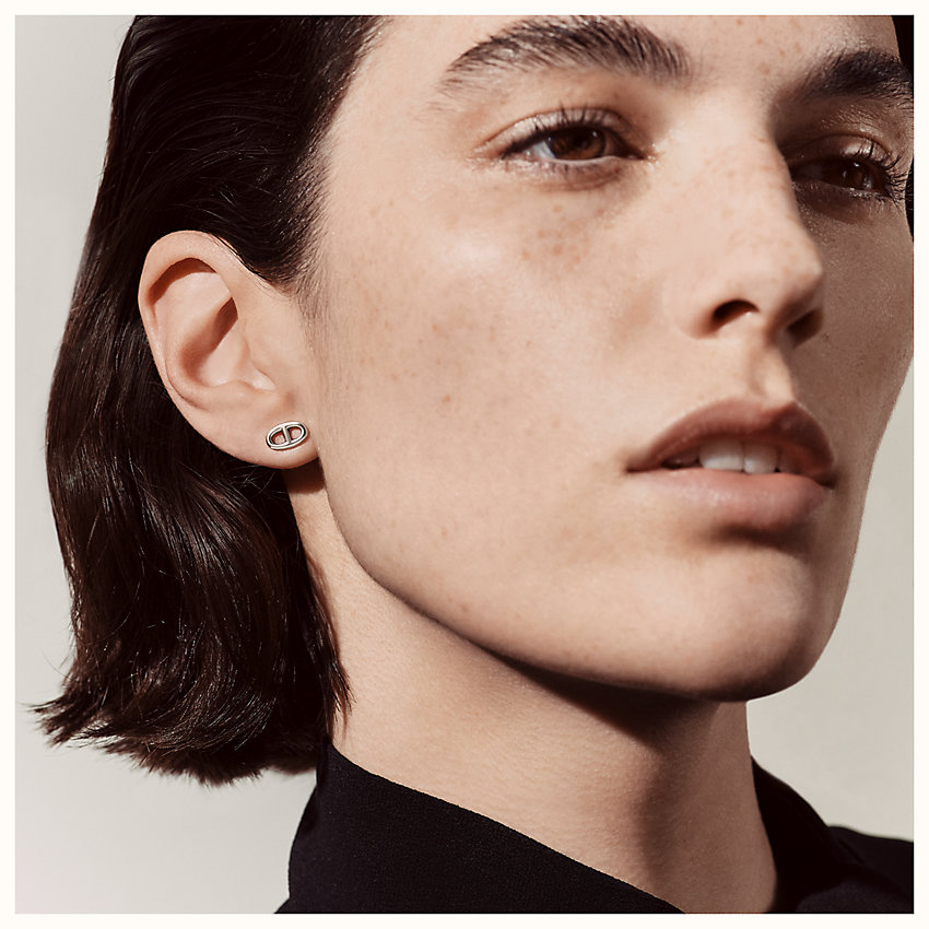 zoom image, Chaine d'Ancre earrings, very small model