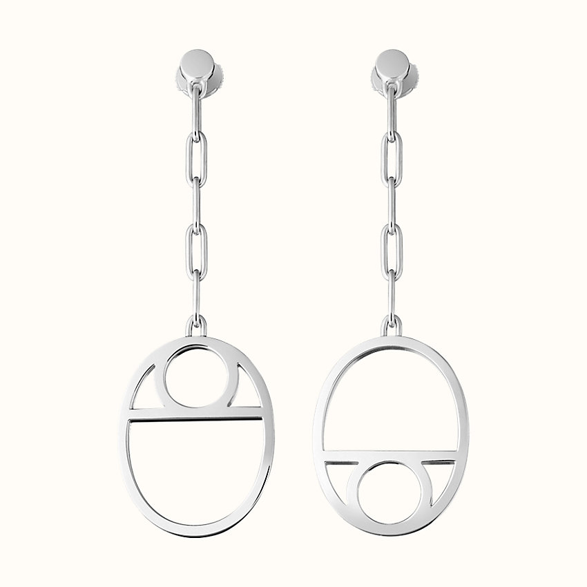 zoom image, Chaine d'Ancre Game earrings, medium model