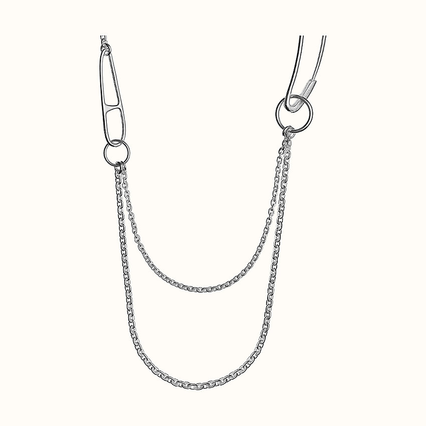 zoom image, Chaine d'Ancre Punk long double necklace