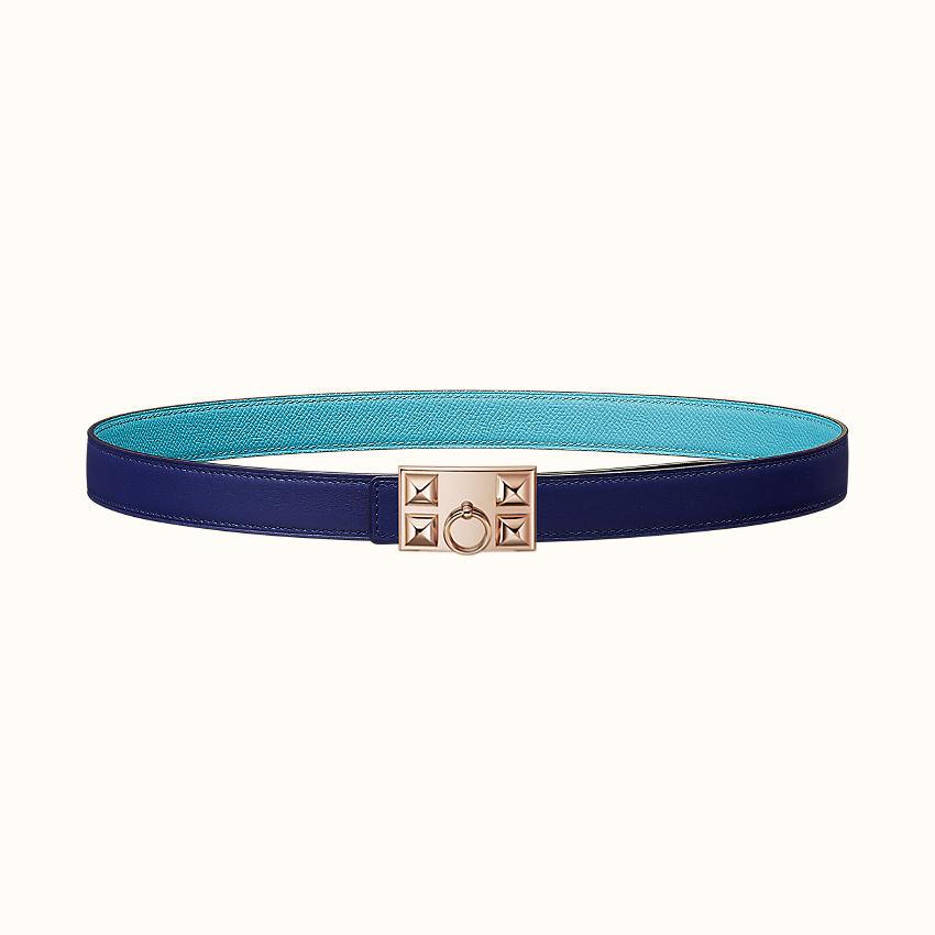 zoom image, Collier de Chien belt buckle & Reversible leather strap 24mm