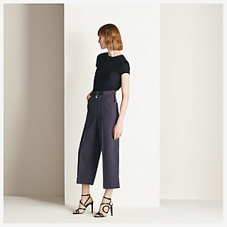 Cropped pants - worn
