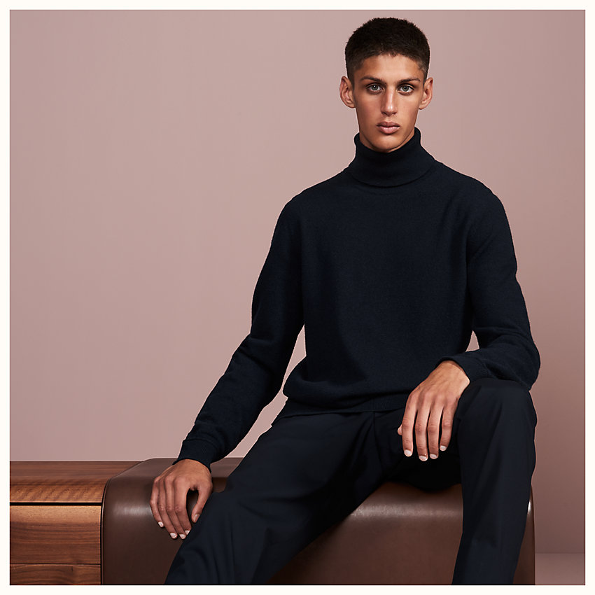 "zoom image, ""Details Roulottes"" turtleneck sweater with rolled details"