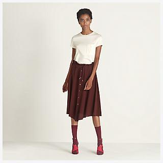 Drawstring waist skirt - worn