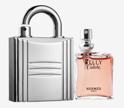 Kelly Caleche Parfum refill & Padlock Refillable gold -