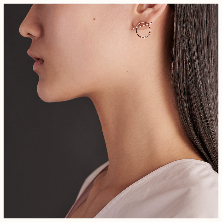 zoom image, Echappee Hermes earrings, medium model