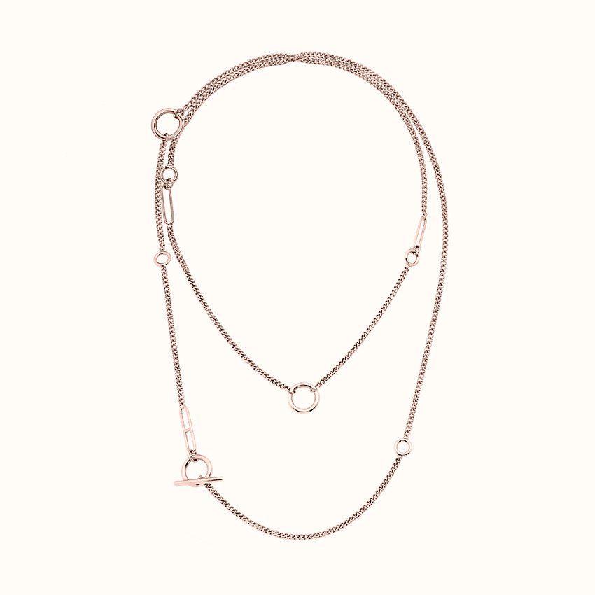 zoom image, Echappee Hermes long necklace