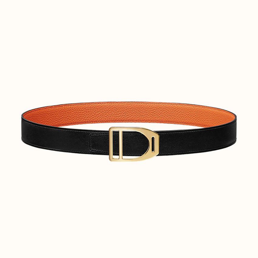 zoom image, Etrier belt buckle & Reversible leather strap 32mm