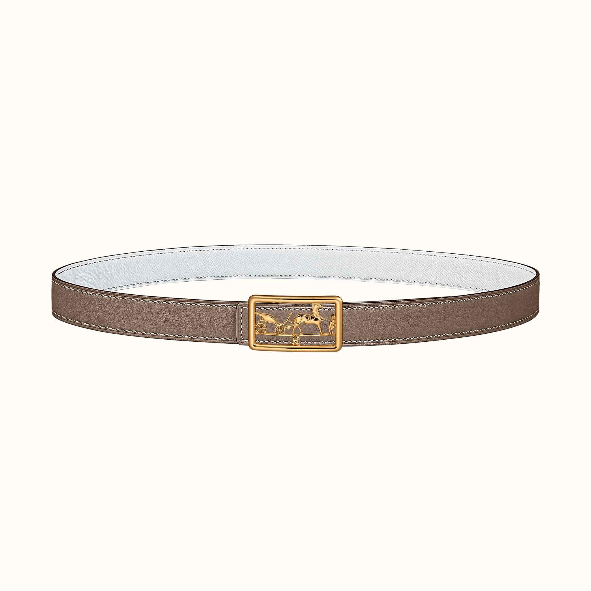 prezzo più basso risparmia fino all'80% nuovo massimo Fibbia da cintura Calèche & Pelle reversibile per cintura 24 mm ...