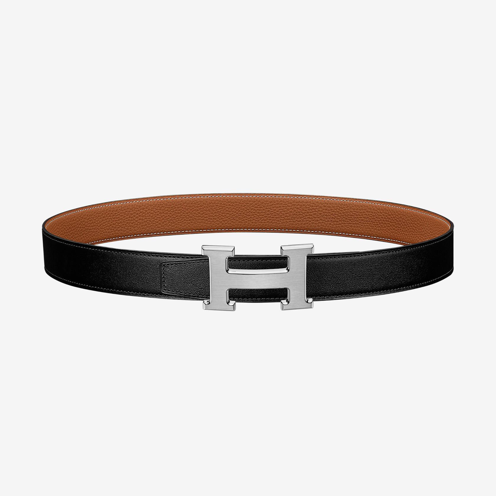 vendita scontata offerta speciale grandi affari 2017 Fibbia da cintura H & Pelle reversibile per cintura 32 mm