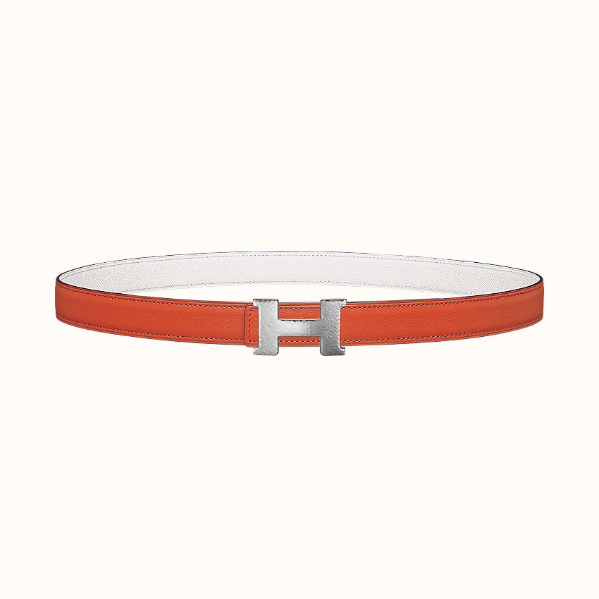 ingrandisci l'immagine, Fibbia da cintura Mini Constance Martelée & Pelle reversibile per cintura 24mm