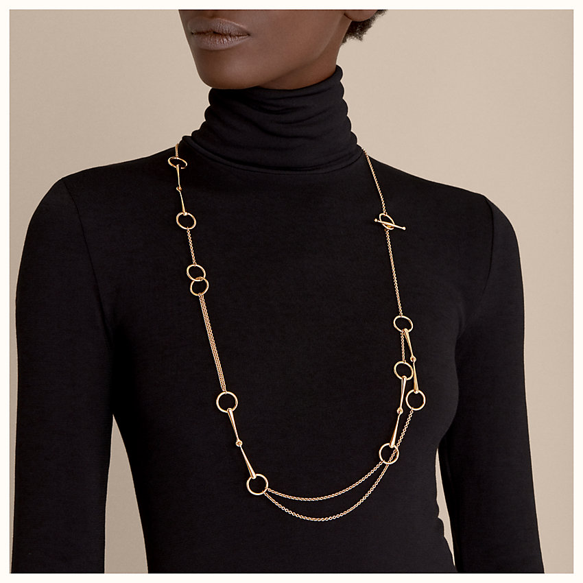 zoom image, Filet d'Or long necklace, small model