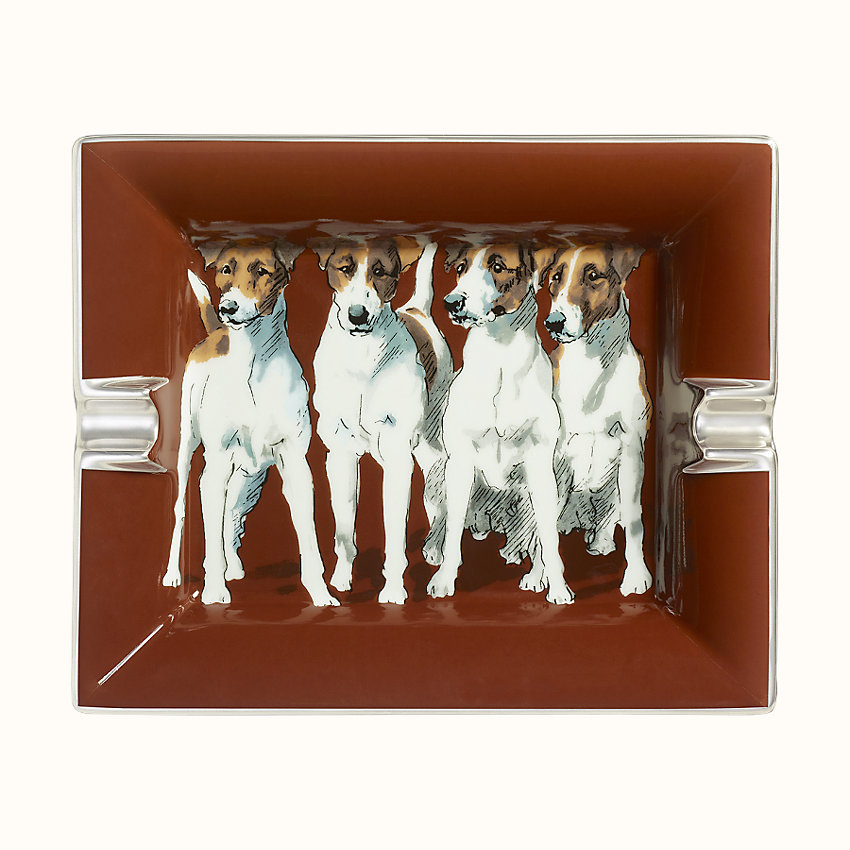 zoom image, Fox Terriers ashtray 2H