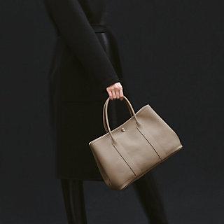 Leather bag insert for Hermes Garden Party 36 Garden Party 36 Vegan Leather Handbag Organizer in Dark Beige Color Express Shipping